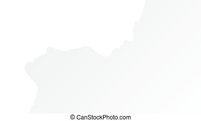 Two Abstract One Line Silhouettes Of People