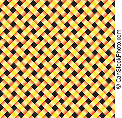 two abstract yellow lines