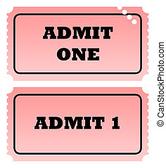 Two admit one tickets