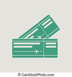 Two airplane tickets icon