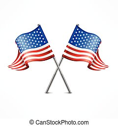 Two American flag