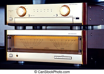 Two Amplifier Vintage Audio Stereo System Luxury High End...