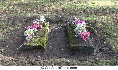 two ancient All Souls Day grave