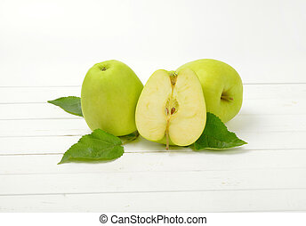 Two and a half green apples