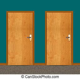 apartment wooden door