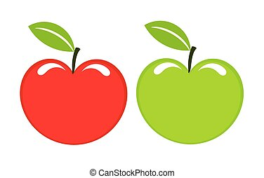 green and red apples clipart. two apples green and red clipart p