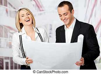 architects smiling