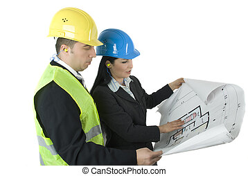 Two architects working