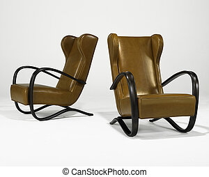 two arm chairs
