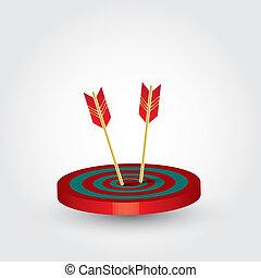 Two arrow in circle