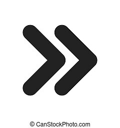 two arrow symbol icon vector