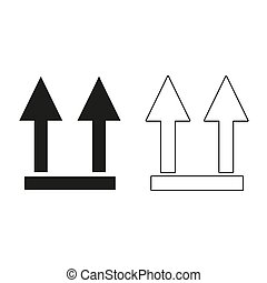 two arrow up sign - green vector icon
