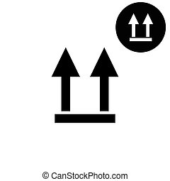 two arrow up sign  - white vector icon