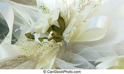 Two artificial flowers