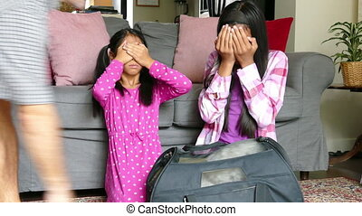 Two Asian Sisters Get A New Puppy - Two cute Asian sisters...