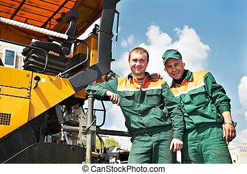 two asphalt workers