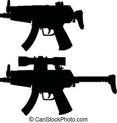 Two automatic guns