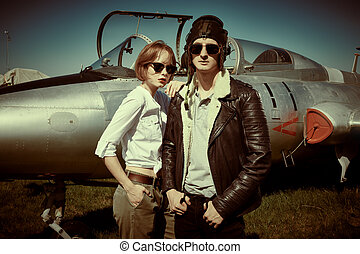 two aviators portrait
