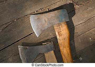 Two Axes on the ground