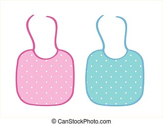 Two baby aprons for boy and girl