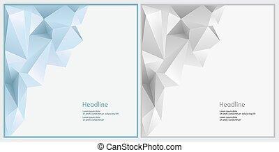 Two background for presentation slides.