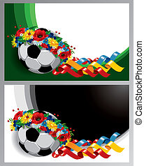 Two background with Soccer ball