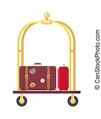 Two Bags on Cute Bogie Vector Illustration - Two bags on ...