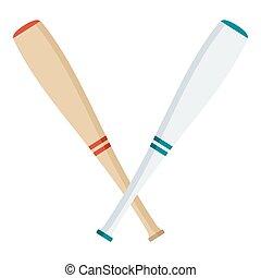 two baseball bats
