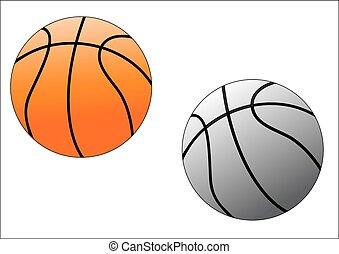 two basket balls