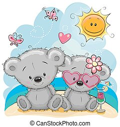 Two Bears on the beach