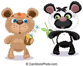 Two bears, vector