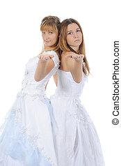 Two beautiful bride