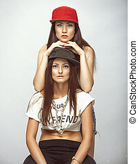 two beautiful girls model