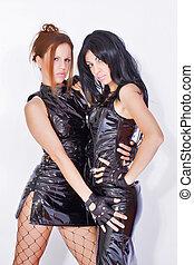 Two beautiful sexy lesbian woman