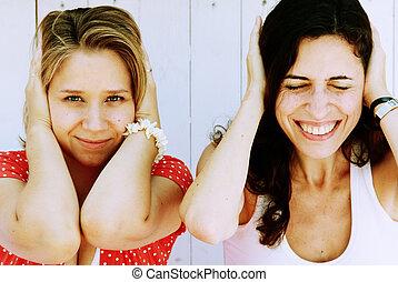 two  beautiful woman