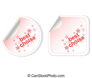 two Best choice red vector stickers