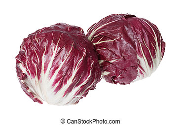 Two big Radicchio with contrast colour in full size. High...