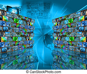 two big walls - Many abstract images on the theme of...