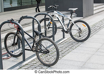 two bikes on the Bicycle parking