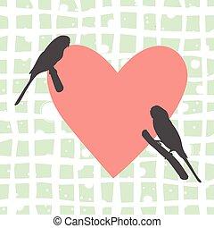 Two bird Flat Icon