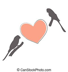 Two bird Flat Icon. Vector Illustration