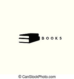Two black books on white background vector illustration.