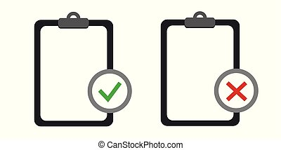 two black clipboards with blank white sheet checklist