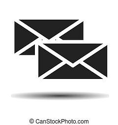 two black envelope