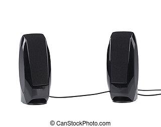 Two black speaker.