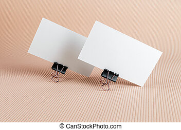 Two blank business card