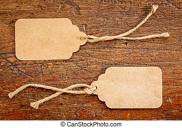 blank paper price tags