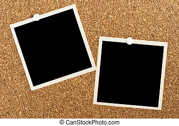 photos posted on cork board