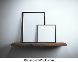 Two blank picture frames