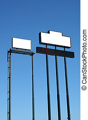 Two Blank Signs